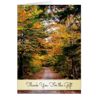 Back Road Fall Thank You for the Gift Card