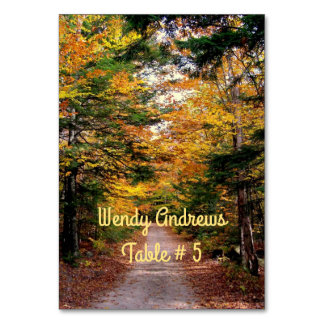 Back Road Fall Wedding Place / Escort Cards