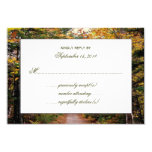 Back Road Fall Wedding Reply Cards