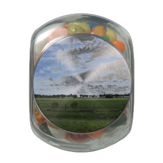 Back Road Jelly Belly Candy Jar