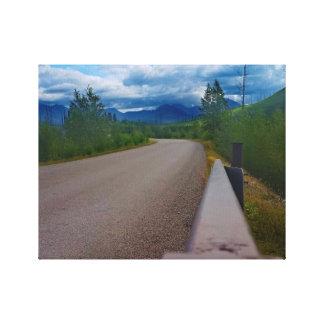 Back road to Polebridge Glacier National Park Canvas Print