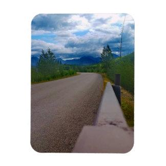 Back road to Polebridge Glacier National Park Magnet