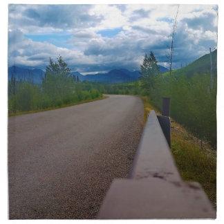 Back road to Polebridge Glacier National Park Napkin