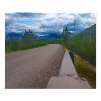Back road to Polebridge Glacier National Park Photo Print