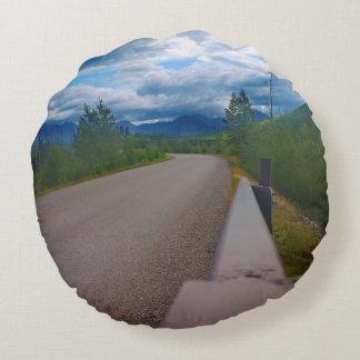 Back road to Polebridge Glacier National Park Round Pillow