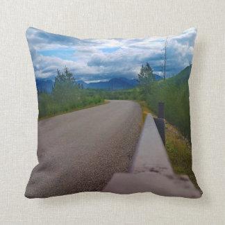 Back road to Polebridge Glacier National Park Throw Pillow