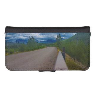 Back road to Polebridge Glacier National Park Wallet Phone Case For iPhone SE/5/5s