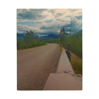 Back road to Polebridge Glacier National Park Wood Wall Art
