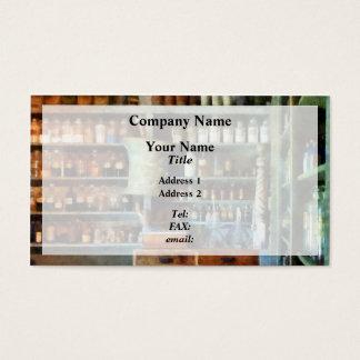 Back Room of Drug Store Business Card