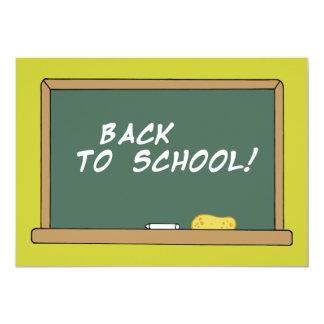 BACK SCHOOL CHALKBOARD LEARNING ELEMENTARY GRADES CARD