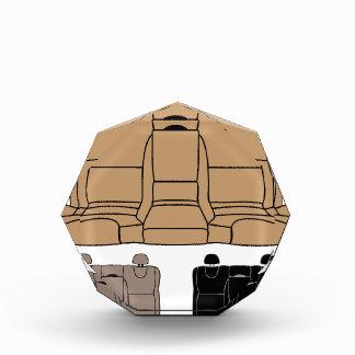 Back Seat vector isolated Acrylic Award