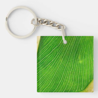 Back Side of a Leaf Keychain