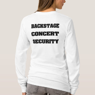 Back Stage Concert Security T-Shirt