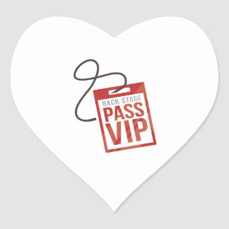 Back Stage Pass Heart Sticker