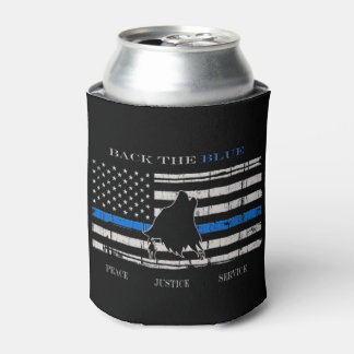 Back the Blue Can Cooler