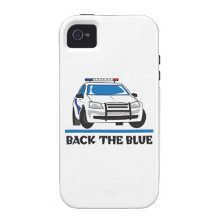 BACK THE BLUE VIBE iPhone 4 COVER