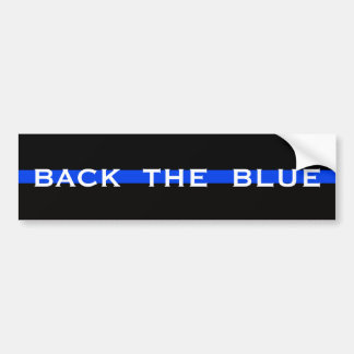 BACK THE BLUE POLICE BUMPER STICKER