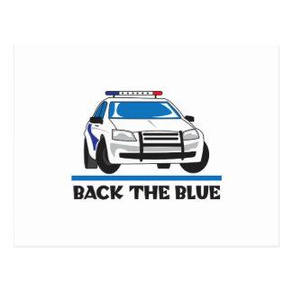 BACK THE BLUE POSTCARD