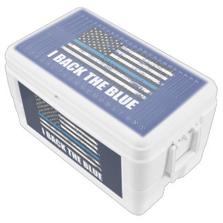 Back the Blue Thin blue line USA Flag MAGA WWG1WA Chest Cooler
