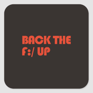 Back the F:/ up Square Sticker