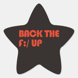 Back the F:/ up Star Sticker