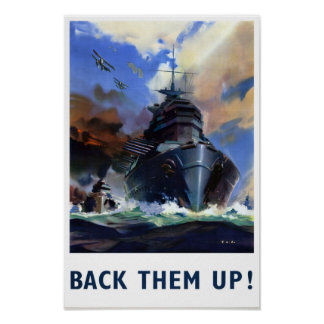 Back them up Vintage Military Poster