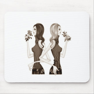 BACK TO BACK GIRLFRIEND'S MOUSEPAD