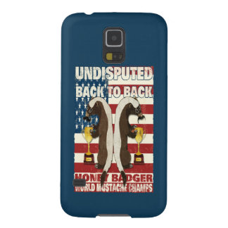 Back to Back Honey Badger World Mustache Champs Galaxy S5 Covers