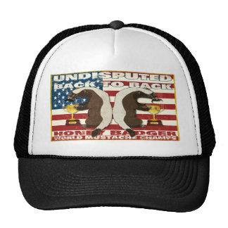 Back to Back Honey Badger World Mustache Champs Trucker Hats