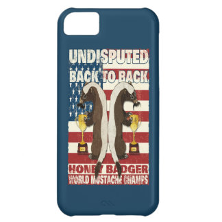Back to Back Honey Badger World Mustache Champs iPhone 5C Cover