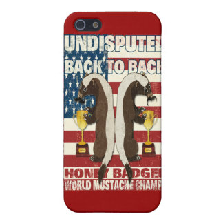 Back to Back Honey Badger World Mustache Champs Cases For iPhone 5
