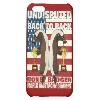 Back to Back Honey Badger World Mustache Champs iPhone 5C Covers