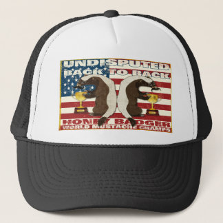 Back to Back Honey Badger World Mustache Champs Trucker Hat