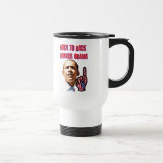 Back To Back,President Barack Obama_ 15 Oz Stainless Steel Travel Mug