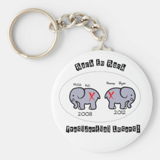 Back to Back Presidential losers! Key Chain
