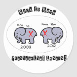 Back to Back Presidential losers! Round Stickers