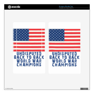 Back to Back World War Champions Decals For Kindle Fire