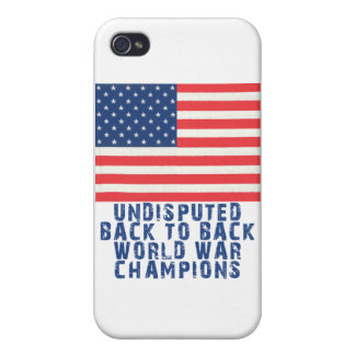 Back to Back World War Champions iPhone 4 Cover