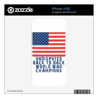 Back to Back World War Champions iPhone 4 Skin