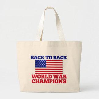 Back to Back World War Champions Jumbo Tote Bag