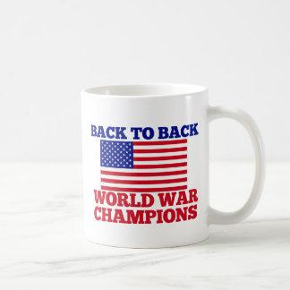 Back to Back World War Champions Coffee Mugs