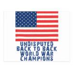 Back to Back World War Champions Postcard