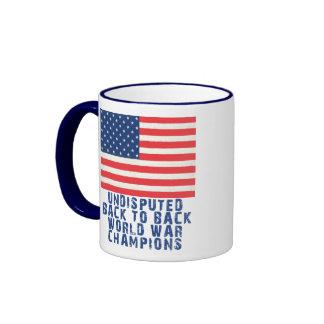 Back to Back World War Champions Ringer Mug