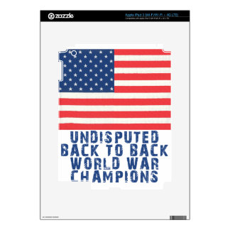 Back to Back World War Champions Decals For iPad 3