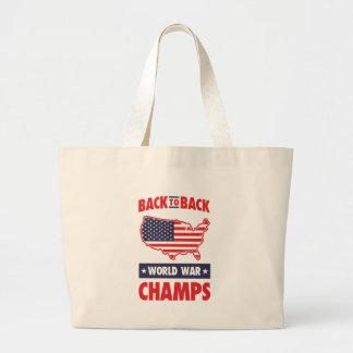 Back To Back World War Champs Canvas Bag