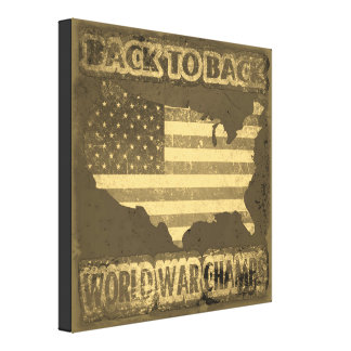 Back to Back World War Champs Canvas Print