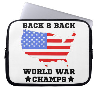Back To Back World War Champs Computer Sleeve