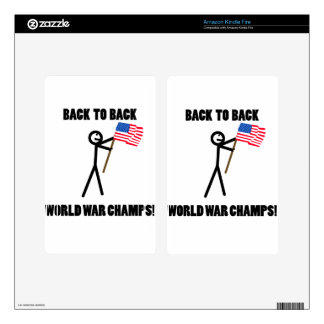 Back to Back World War Champs Decal For Kindle Fire