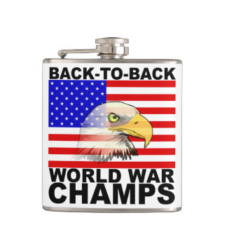 Back To Back World War Champs Flask