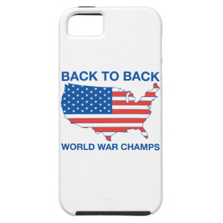 Back to Back World War Champs iPhone Case iPhone 5 Case